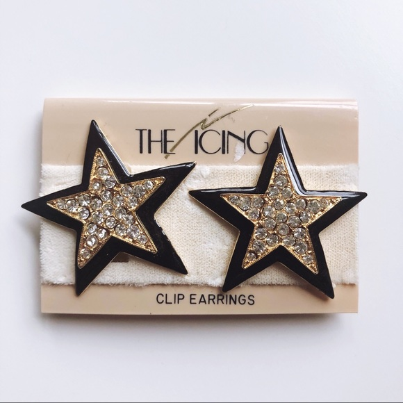 Icing Jewelry - NWT Vintage ⭐️Star⭐️ Clip-On Earrings